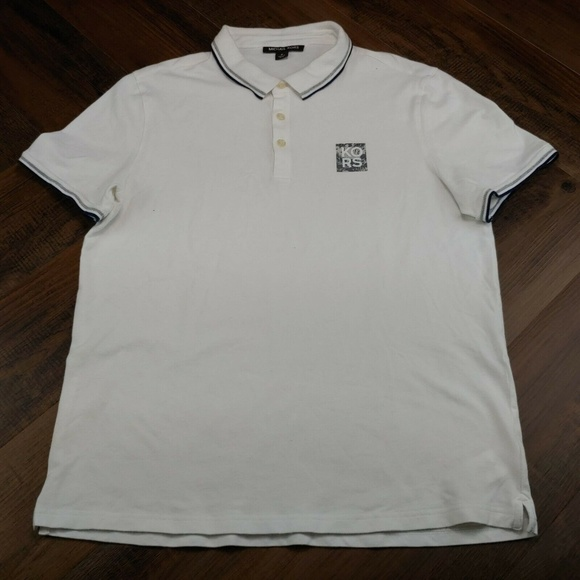 Michael Kors Other - Michael Kors Men's Polo Shirt White Short Sleeve S